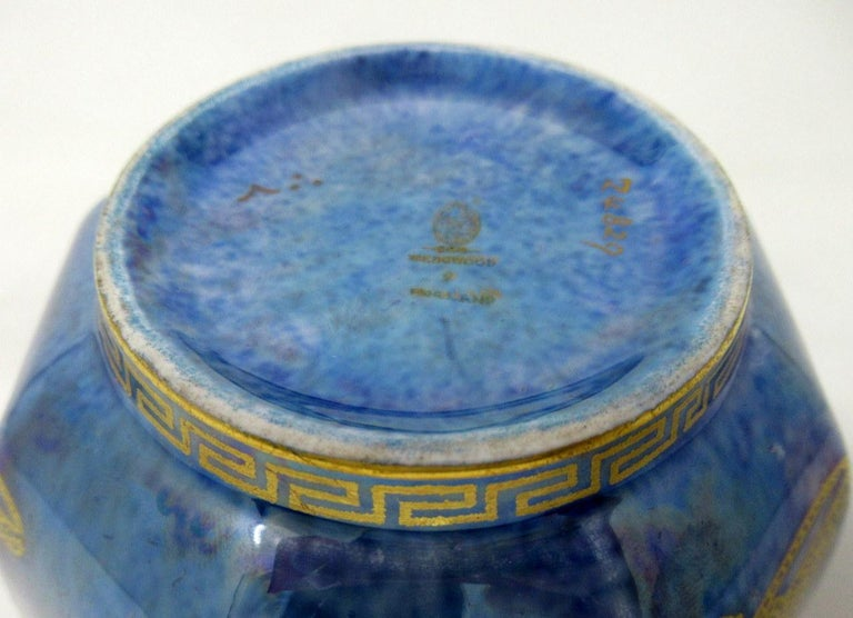 Art Deco Wedgwood Celestial Chinese Dragon Lustre Ware Bowl Centerpiece, 1920s   For Sale 3