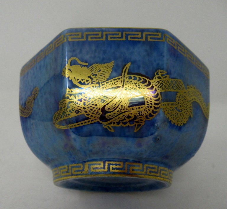 Art Deco Wedgwood Celestial Chinese Dragon Lustre Ware Bowl Centerpiece, 1920s   For Sale 1