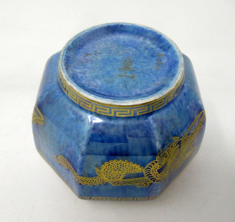 Art Deco Wedgwood Celestial Chinese Dragon Lustre Ware Bowl Centerpiece, 1920s   For Sale 2