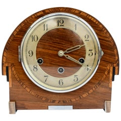 Art Deco Westminster Chime Inlaid Mantel Clock by Thomas Haller, circa 1930