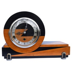 Art Deco Westminster Chime Mantle Clock by Norland, England