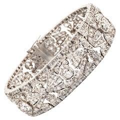 Art Deco White Gold and Diamond Bracelet