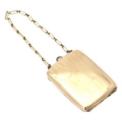 Art Deco Wightman & Hough Gold Filled Compact Purse