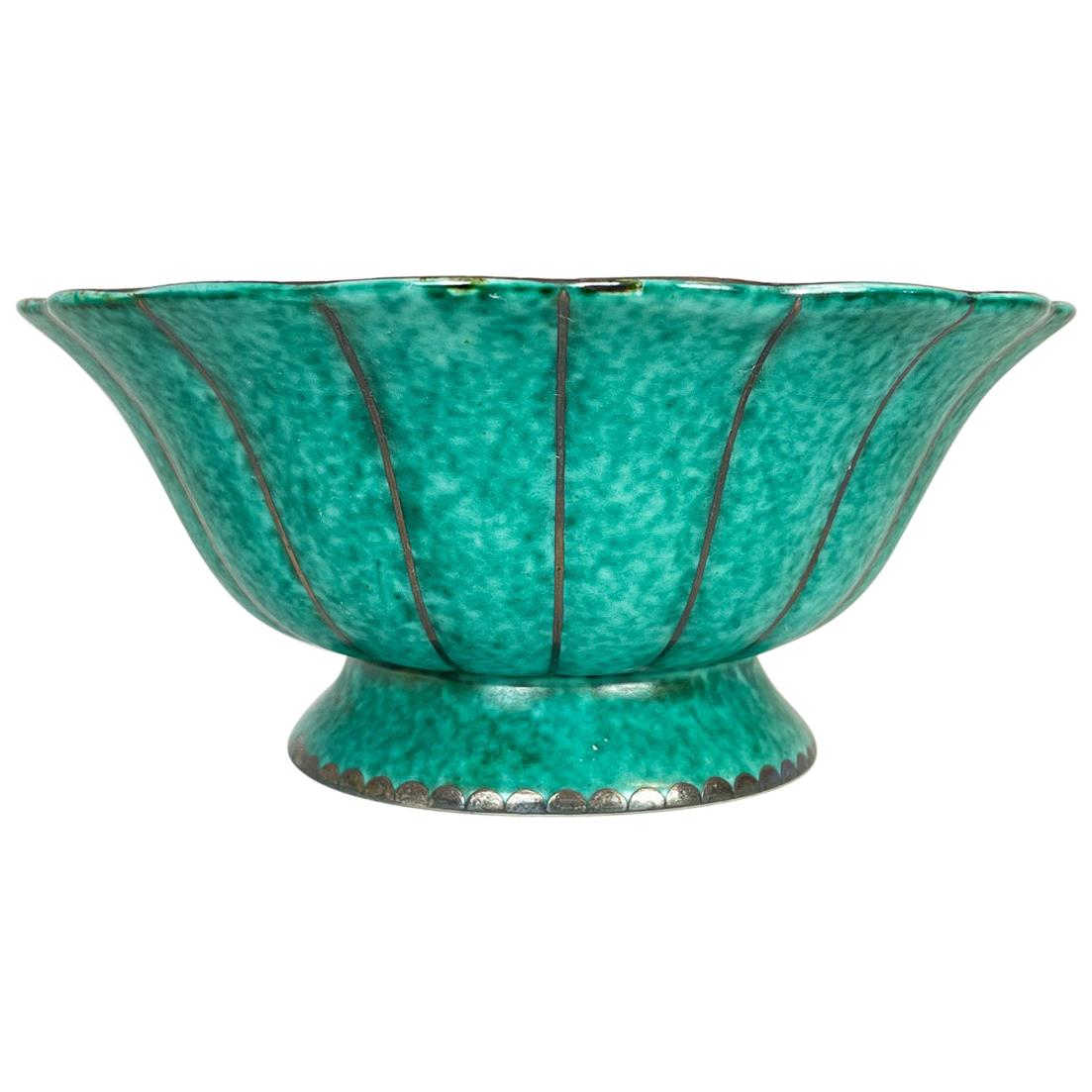 Art Deco Wilhelm Kåge Gustavsberg Argenta Bowl, Sweden, 1930s