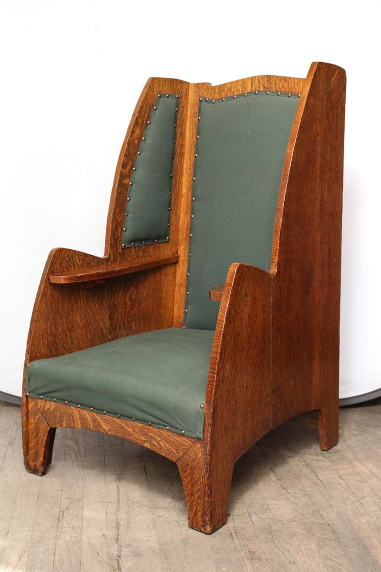 English Art Deco Wing Chair For Sale