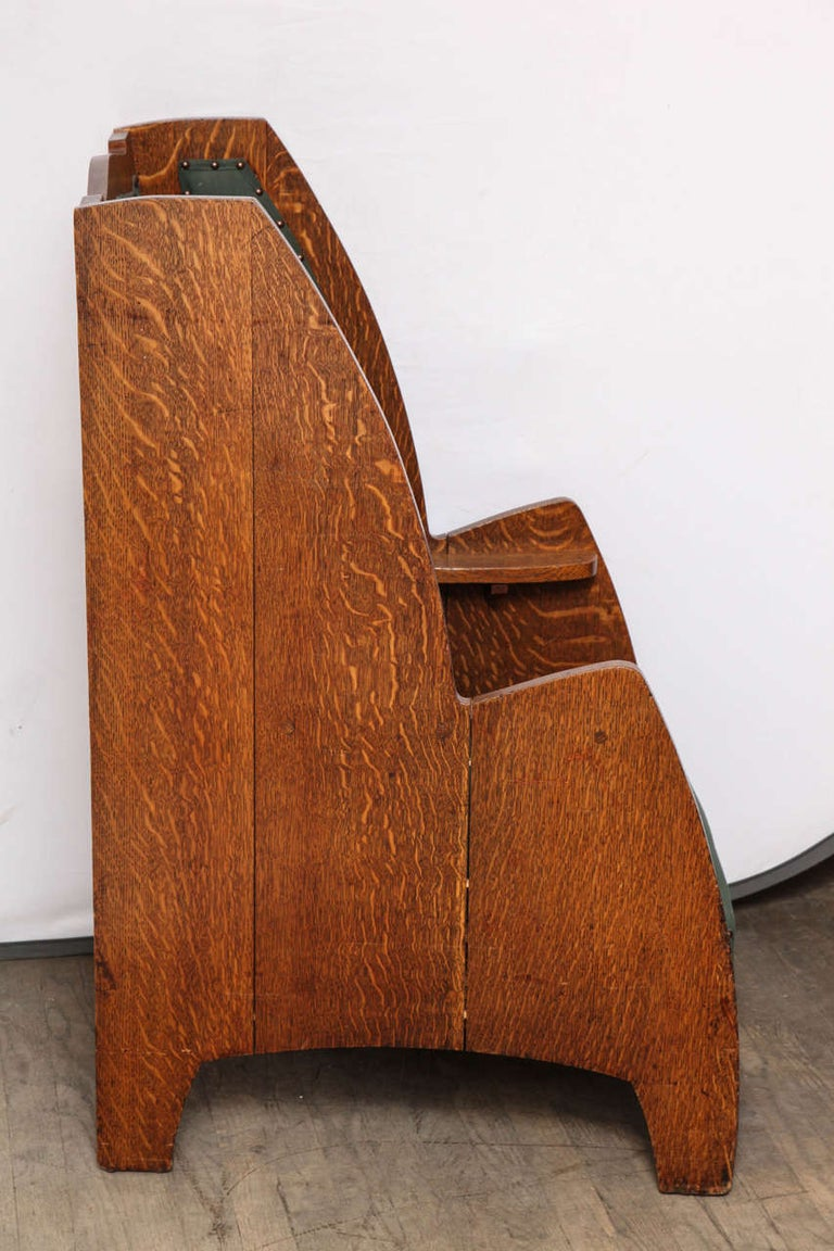 Art Deco Wing Chair For Sale 3