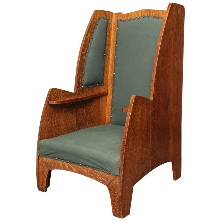Art Deco Wing Chair For Sale