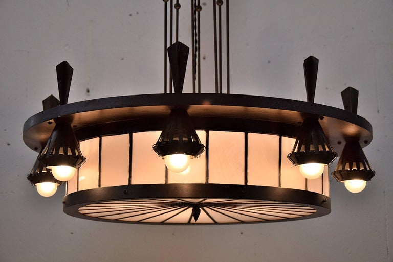 Art Deco Winkelman and Van Der Bijl Chandelier In Good Condition For Sale In Weesp, NL