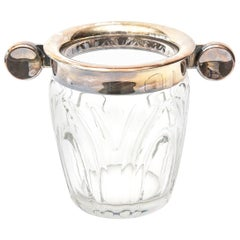 Art Deco WMF Crystal and Silver Plated Ice Bucket Champagne Bucket Barware