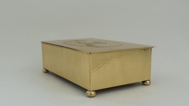 Polished Art Deco WMF Hunting Motiv Jewelry Box, circa 1920s For Sale