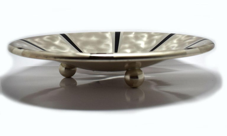 20th Century Art Deco Wmf Silver Plated Bowl For Sale