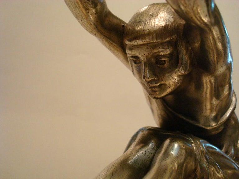 Art Deco Woman Sculpture Bookends, France, 1920s For Sale 1