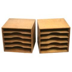 Art Deco Wood Filing Boxes