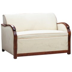 Art Deco Wood Framed French Sofa-Bed