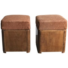 Art Deco Wood Ottoman Stool Ca1930/2 St
