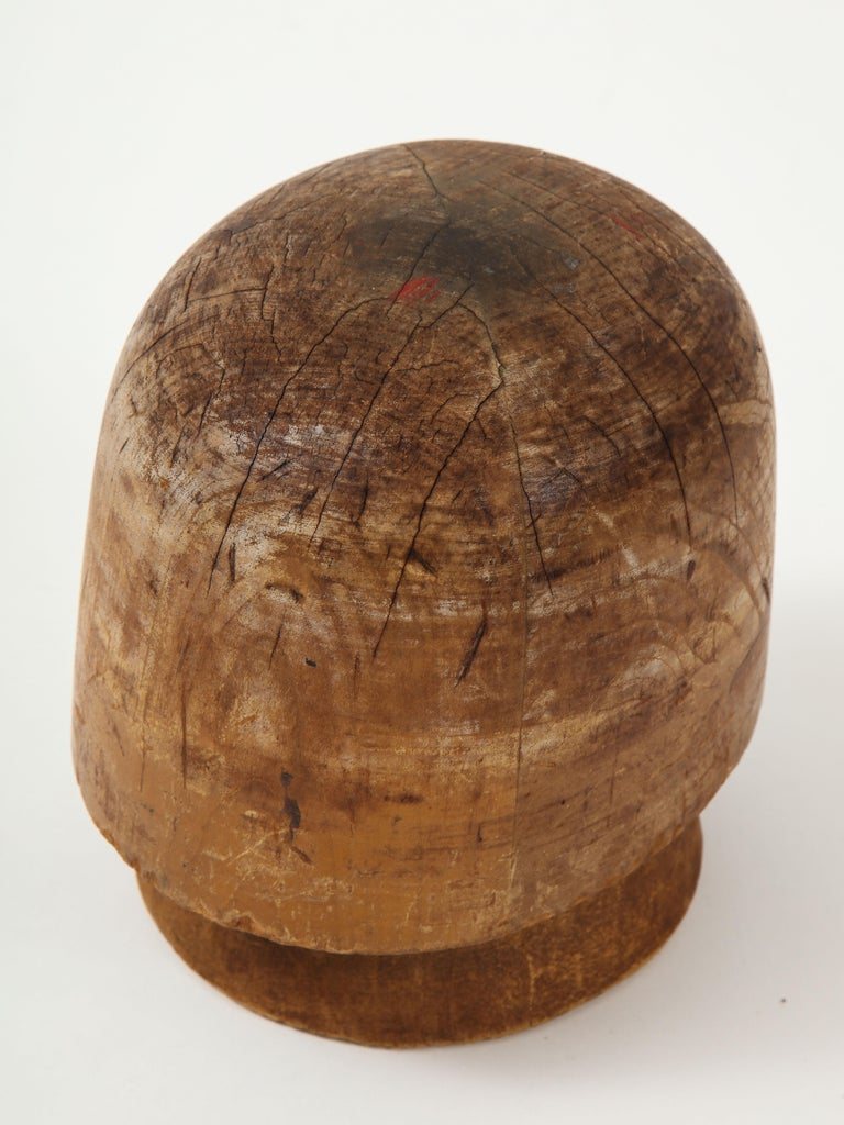 American Art Deco Wooden Hat Form For Sale