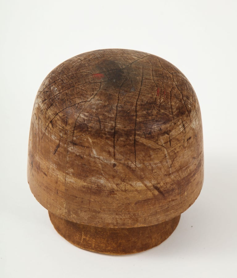 20th Century Art Deco Wooden Hat Form For Sale