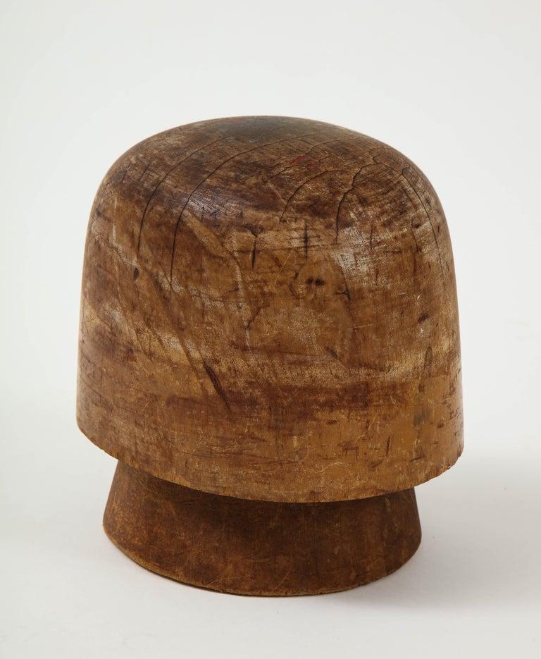Hardwood Art Deco Wooden Hat Form For Sale