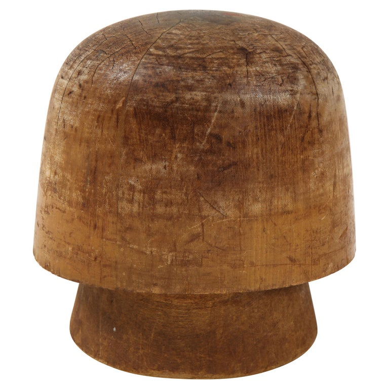 Art Deco Wooden Hat Form For Sale