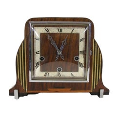 Art Deco Wooden Mantel Clock