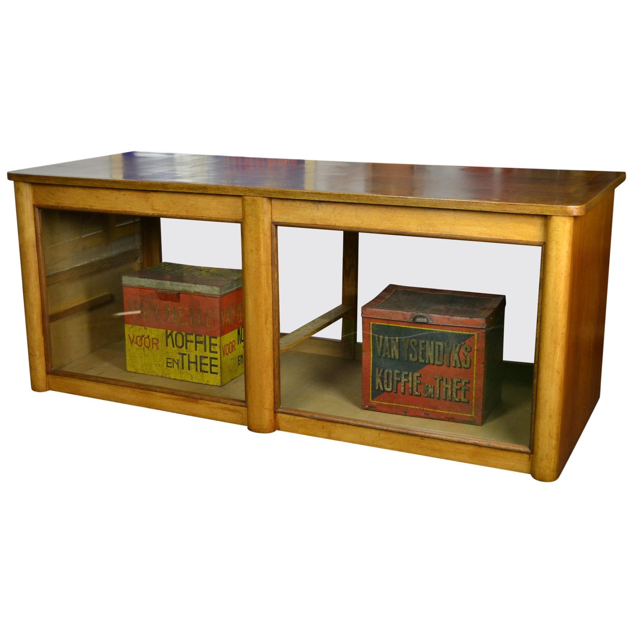 De Coene Frères Art Deco Mahogany Vitrine Cabinet