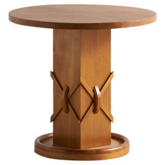 Art Deco Wooden Side Table, 1940s