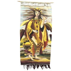 Art Deco Wool Tapestry, circa 1930-1950