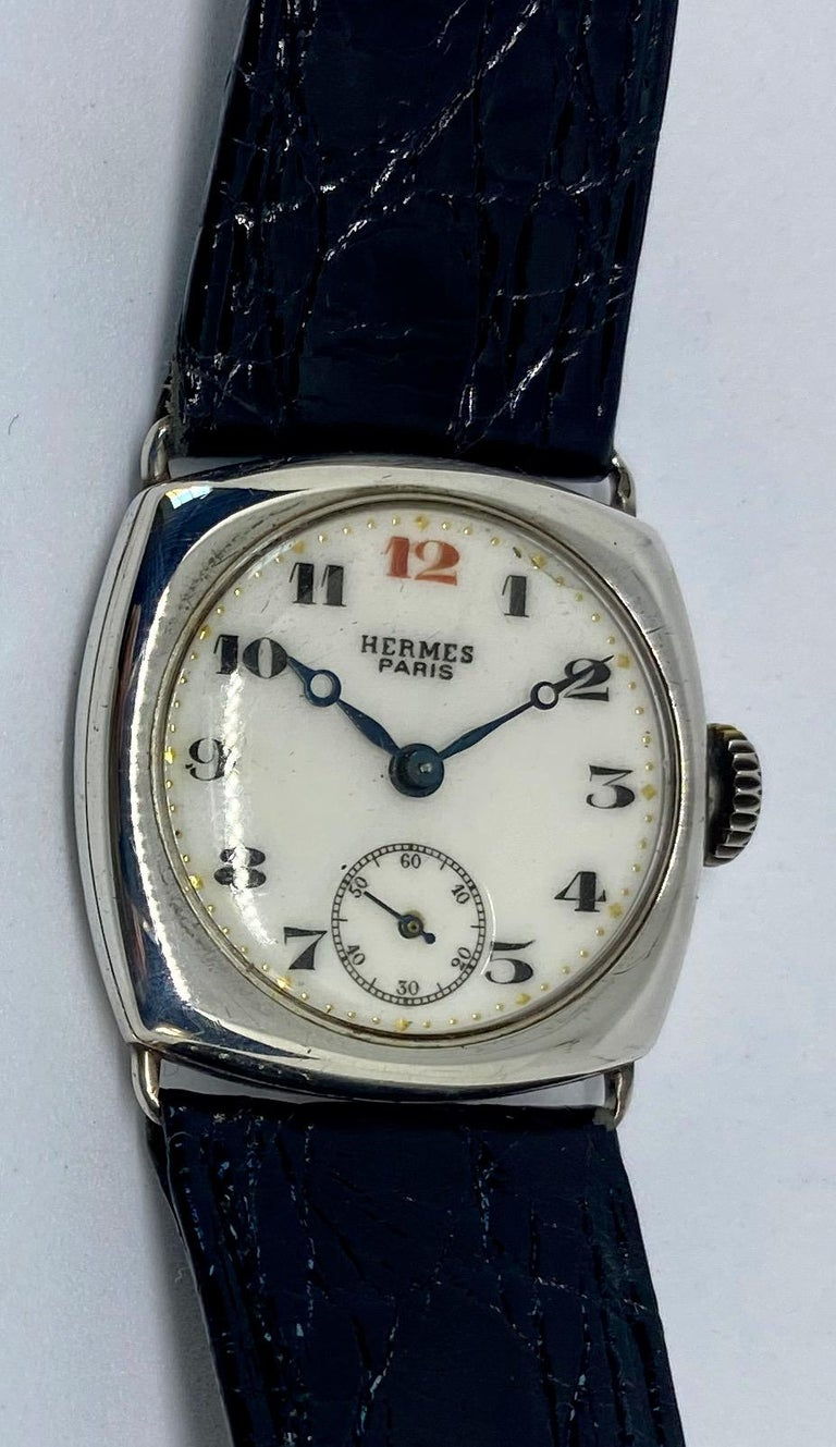 Hermes Paris Collector's Wristwatch In Fair Condition For Sale In San Rafael, CA