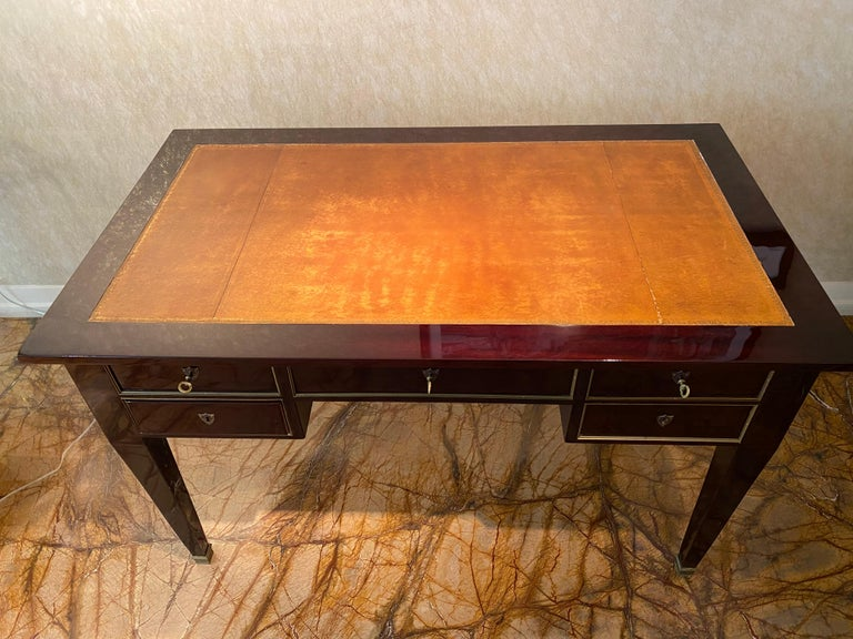 Art Deco Writing Desk, 1940s In Good Condition For Sale In Brussels, BE