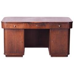 Art Deco Writing Desk Designed by Czech Architect Jindřich Halabala, 1930s