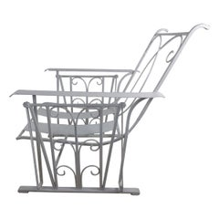 Art Deco Wrought Iron Garden Glider, C1935
