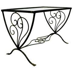 Art Deco Wrought Iron Garden Patio Table after Salterini