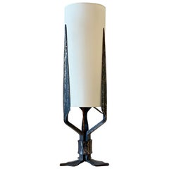 Art Deco Wrought Iron Table Lamp