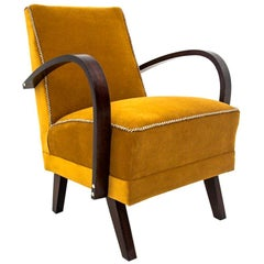 Art Deco Yellow Club Chair