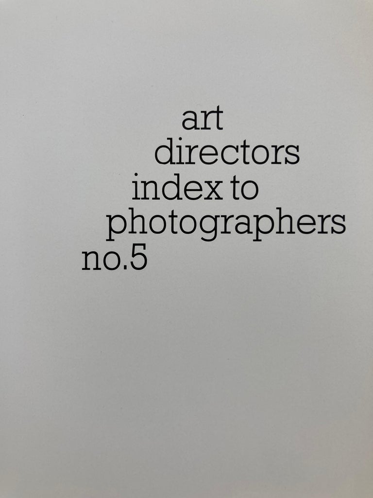 American Art Director's Index to Photographers No. 5 Hardcover, January 1, 1977 Book For Sale