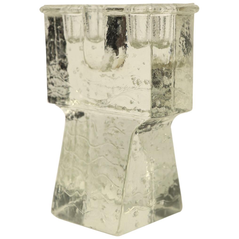 Art Glass Arkipelago Candlestick by Sarpaneva for Iittala