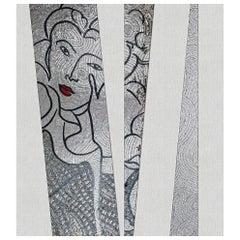 Art Glass & Artistic Mosaic Wall Decorative Panel Dimension Customizable