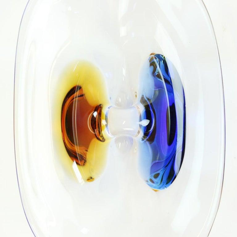 Art Glass Bowl by Frantisek Zemek for Sklarna Mstisov, 1960s In Excellent Condition For Sale In Zohor, SK