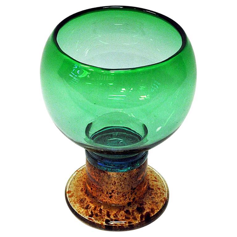 Art Glass Bowl Vase Pookali by Kaj Franck for Nuutajärvi, Finland, 1960s