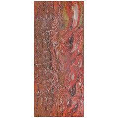 Art Glass Crimson Decorative Panel for Multiple Uses Dimension Customizable