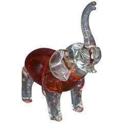 Art Glass Elephant Sculpture