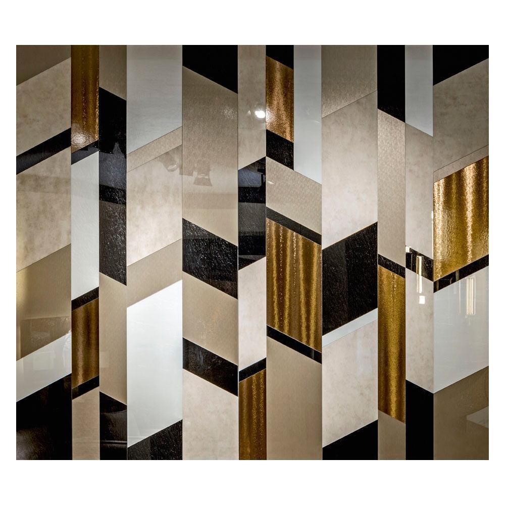 Art Glass Geometric Design Wall Decorative Panel Dimension Customizable