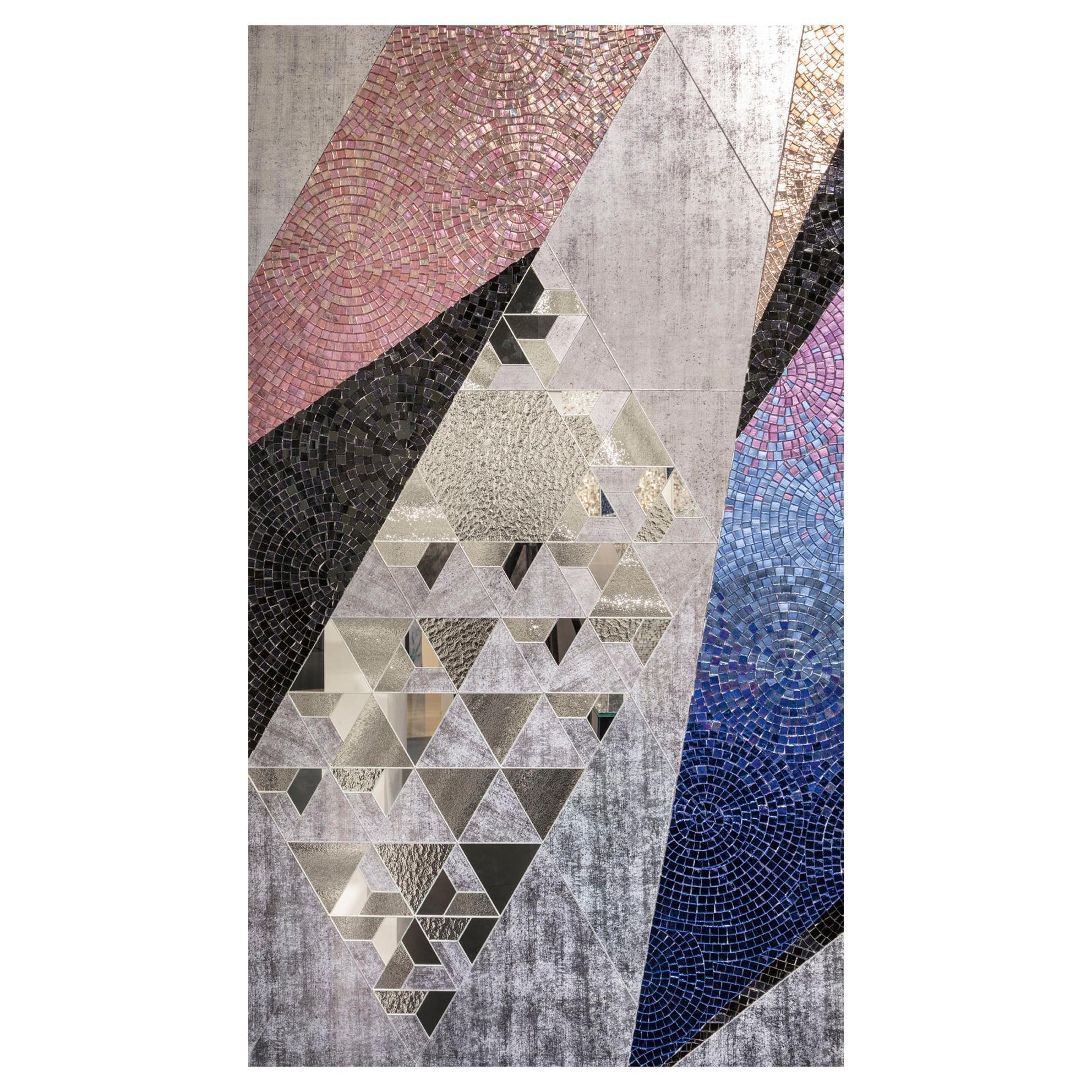 Art Glass & Geometric Mosaic Wall Decorative Panel Dimension Customizable