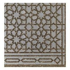 Art Glass Geometric Platinum Mosaic Wall Decorative Panel Dimension Customizable