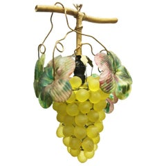 Art Glass Grape Pendant, 20th Century