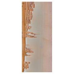Art Glass Landscape Decorative Panel for Multiple Uses Dimension Customizable