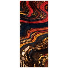 Art Glass Magma Decorative Panel for Multiple Uses Dimension Customizable