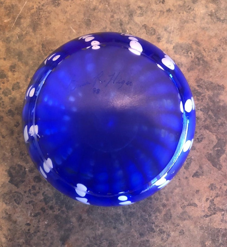 Art Glass Orb Sculpture or Paperweight by Brian Higer of American Studio For Sale 2