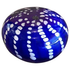 Art Glass Orb Sculpture or Paperweight by Brian Higer of American Studio