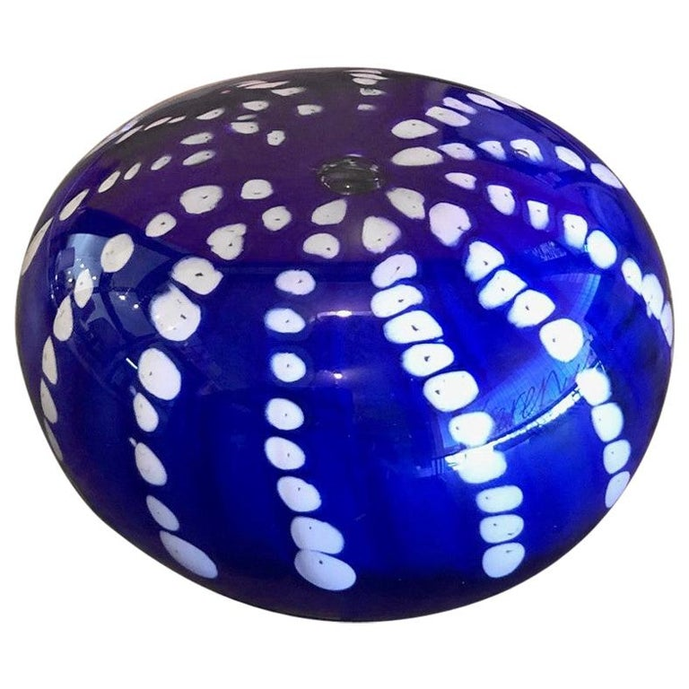 Art Glass Orb Sculpture or Paperweight by Brian Higer of American Studio For Sale